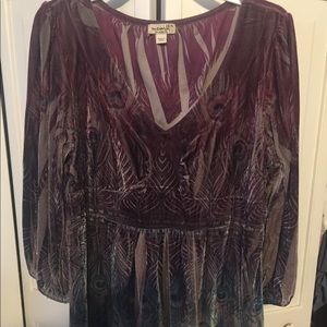 Women's velour top xl